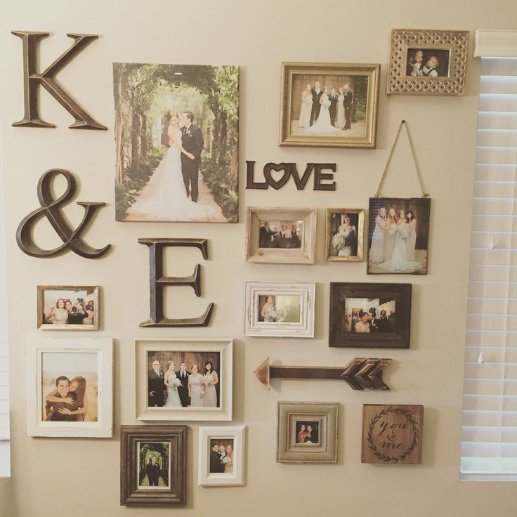 My gallery wall of wedding photos | My home and it\'s decor ...