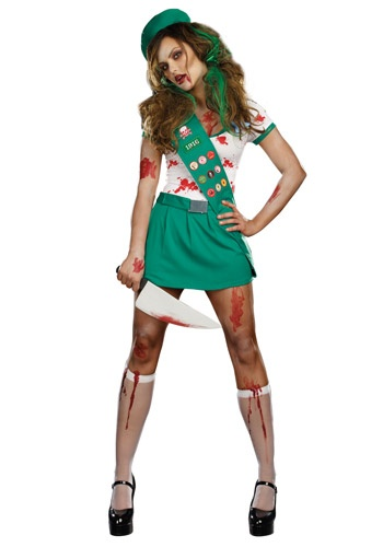 Ghoul Scout Zombie Costume #GirlScout #Halloween #Scary