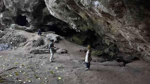Situs Goa Lowo Tempat Tinggal Manusia Purba