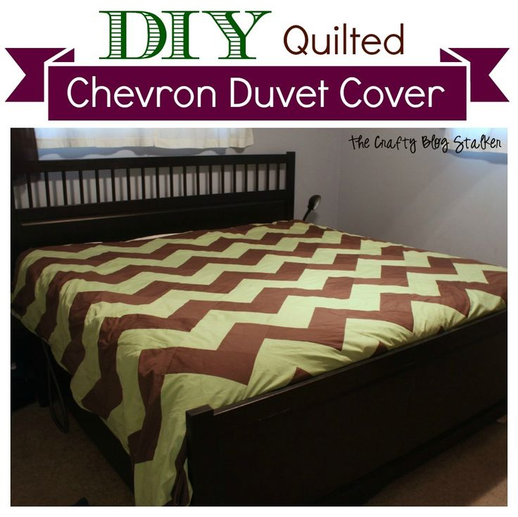DIY Quilted Chevron Duvet Cover