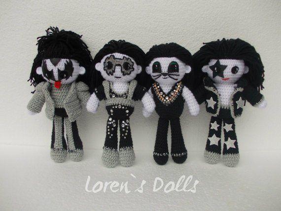 KISS band Crochet Doll Portrait Doll Personalized gift Demon