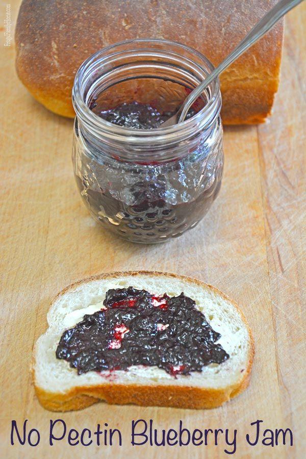 No Pectin Blueberry Jam, Frugal Family Home
