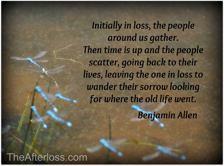 Initially In Loss, The People Around Us Gather. Then Time