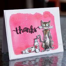 tim holtz crazy cats cards