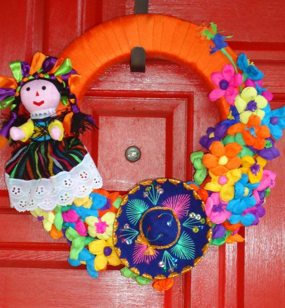 Fiesta Wreath by SweetPeainLa on Etsy, $55.00