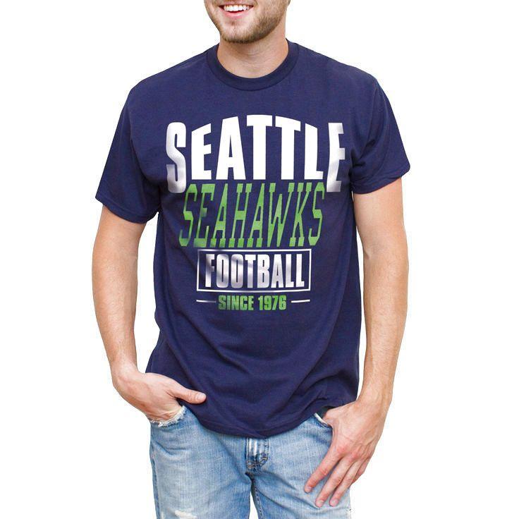 Seattle Seahawks Coin Toss 2-Hit T-Shirt - Navy - $17.59