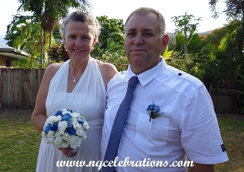 Diane and John married by Cairns Wedding Celebrant Janine Meakin on 21st December 2014