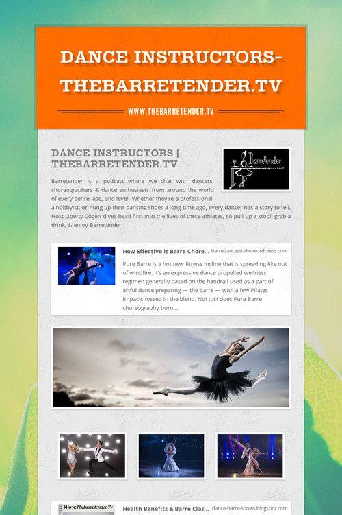 Dance Instructors-Thebarretender.Tv