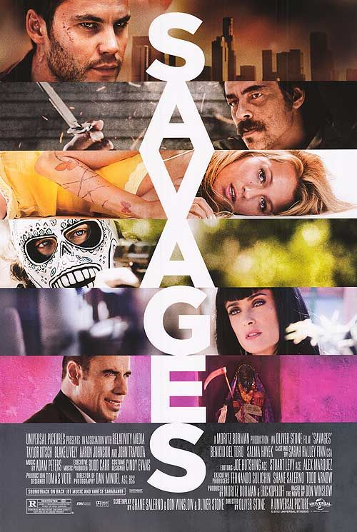Violent tale of the two worlds of marijuana. Savages The Movie (2012) Review