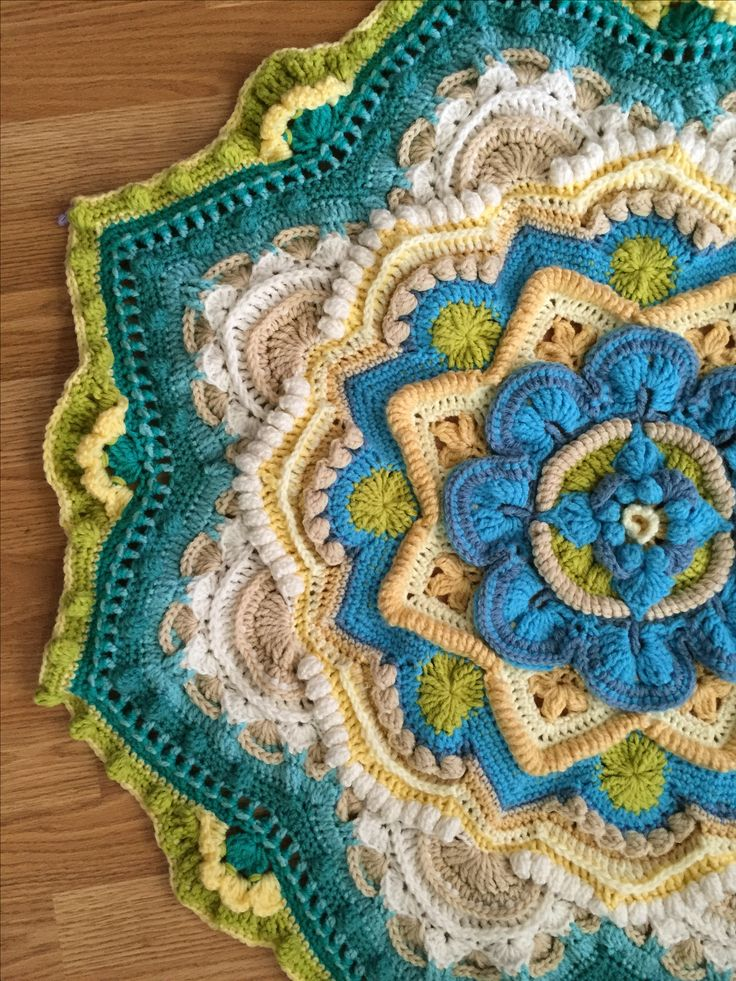 Mandala Madness CAL my work- Helen Shrimpton's of crystals and crochet pattern