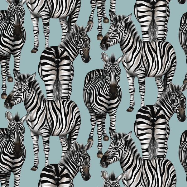 ZEBRAS Charlotte Jade's hand drawn pattern design. We believe in bringing the beauty of the outside world inside, with our hand drawn patterns for luxury interiors. WALLPAPER. CUSHIONS. UPHOLSTERY FABRICS. CERAMIC TILES