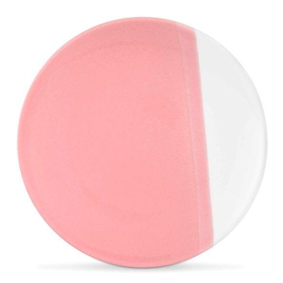 vtwonen Dip Dye Bord Ø 15 cm - Wit/Roze