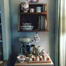 """Wood"" Wooden Plate Rack at Emma Bridgewater"