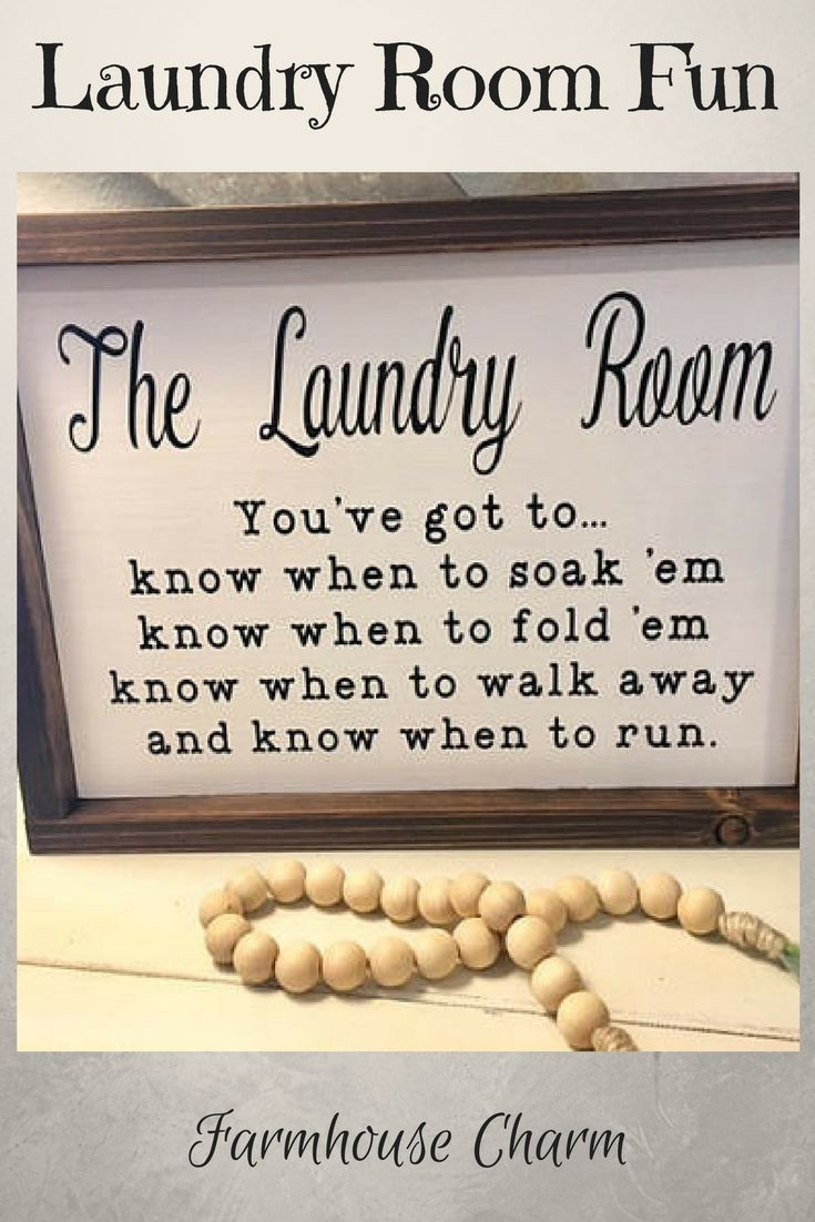 Laundry Room Sign, Laundry Room Decor, Fixer Upper Wall Decor, Funny Laundry Sign, Know When To Fold 'Em Sign, Cottage Chic, Wood Sign #wood #woodsign #afflink #fixerupper #laundry #laundryroom #rustic #rusticdecor #farmhouse #farmhousetstyle