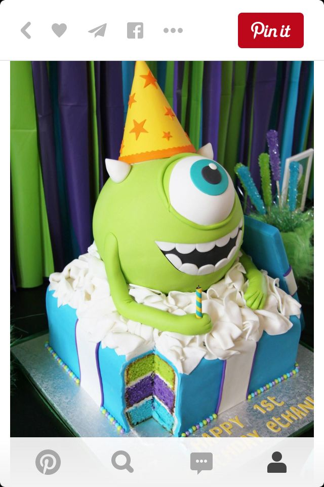 Monsters inc cake #creative #cakes | follow @sophieeleana