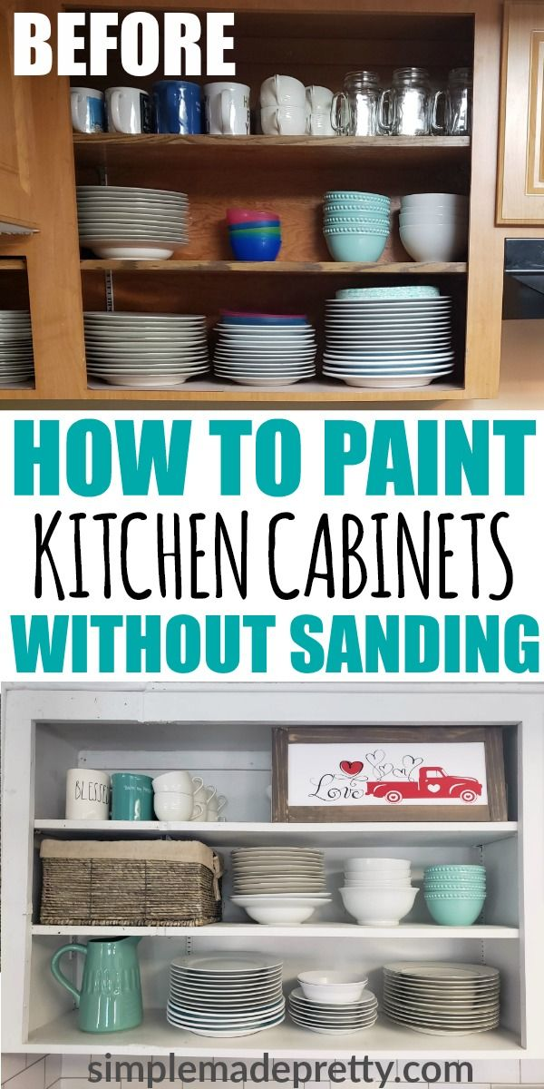Painting Kitchen Cabinets White, How To Paint Kitchen Cabinets White Without Sanding