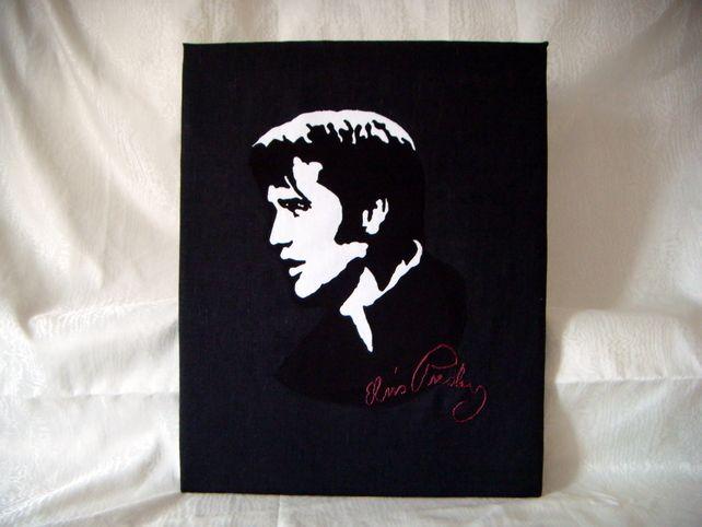 I LOVE ELVIS Textile Canvas £55.00