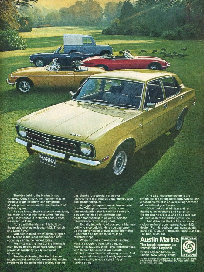 Morris Marina, some say the worst British car ever.
