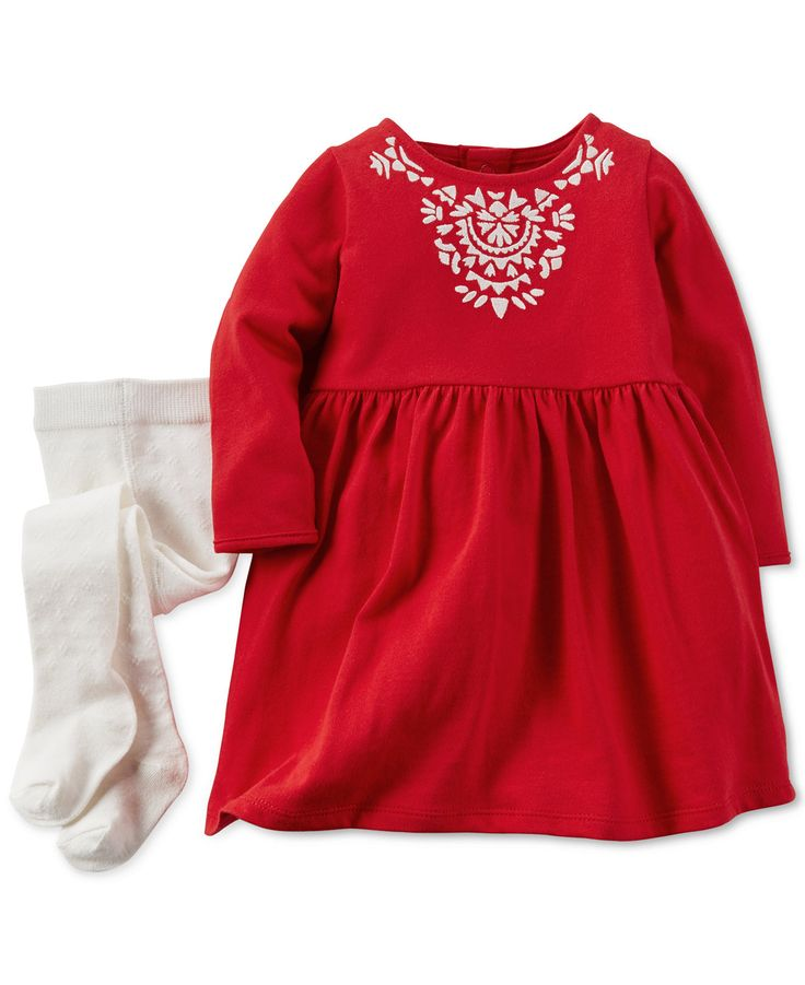 Carter's Baby Girls' 2-Piece Holiday Dress & Tights - Baby Girl (0-24 months) - Kids & Baby - Macy's