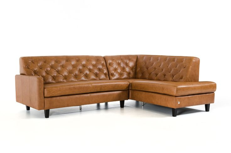 Divani Casa Kyler Modern Brown Leather Sectional Sofa
