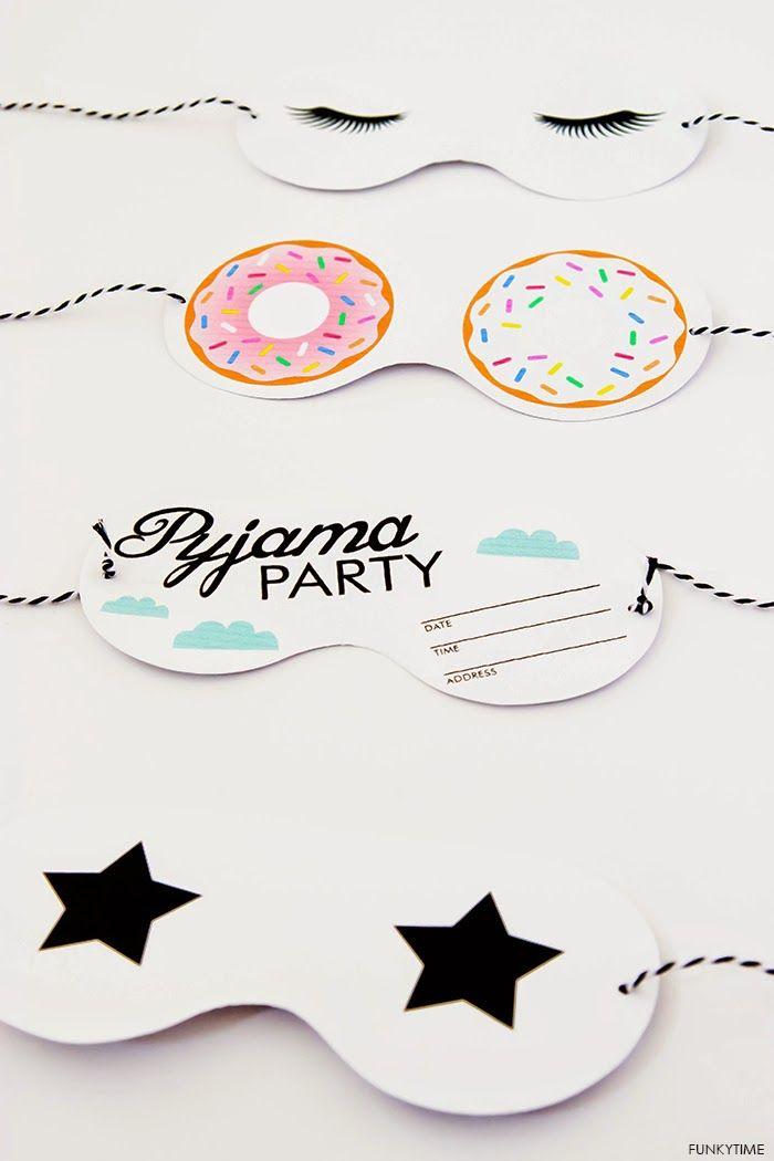 Art And Chic: Friday Love - Pyjama Party Invitations! ❥