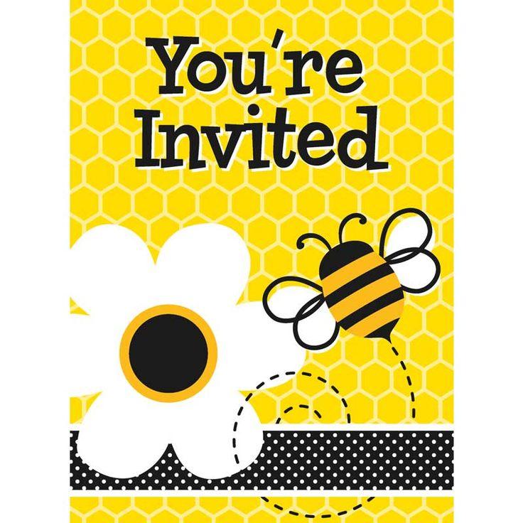 8 Busy Bee Einladungen