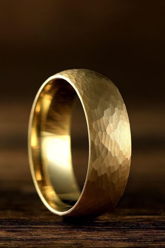Anillo Popular Mens Wedding Bands Yellow Gold Wedding Band Unique Mens Wedding Rings Gold