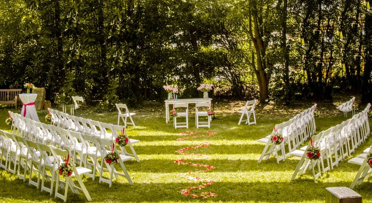 Ceremonia campestre al aire libre