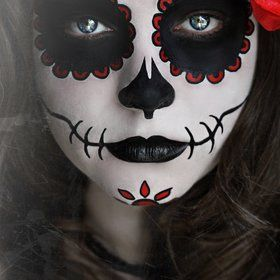 Day Of the DeadHalloween Costumes, Halloween Makeup, Makeup Ideas, Of The, Sugar Skull Makeup, Dead, Day, Face Painting, Halloween Ideas