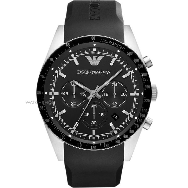 Mens Emporio Armani Tazio Chronograph Watch AR5985