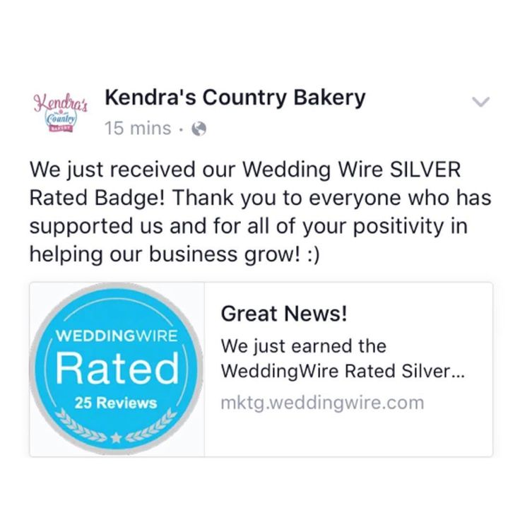 We Just Received Our Wedding Wire Silver Rated Badge Thank You To Everyone Who Has Supported Us And For All Of Your Pos In 2020 Wedding Wire Our Wedding Grow Business