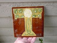 An Ornate Art Nouveau Decorative Tile c1900
