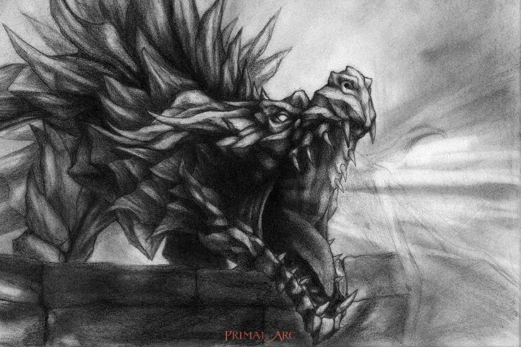 'Ancient Shadow Unbound', pencil. www.primalarc.com