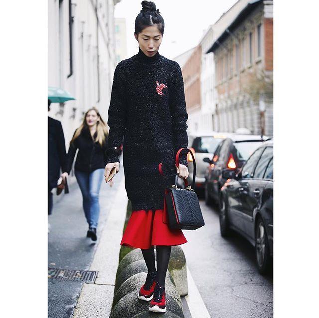 Oksana On, street style..