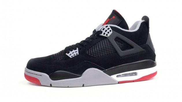 Nike Air Jordan IV  http://www.highsnobiety.com/2012/11/20/air-jordan-4-blackred-bred-2012-retro-releases-this-friday/