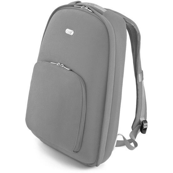 Urban Backpack w/ Cotton & Aniline Leather in Grey | Buy Laptop Cases & Bags