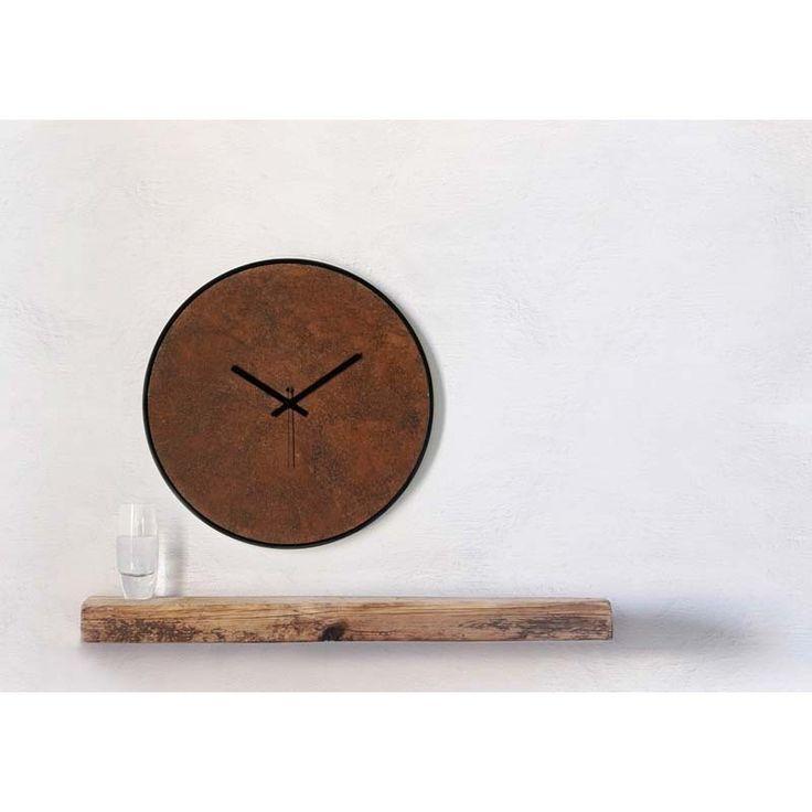 Ρολόγια τοίχου της Εταιρείας xline.Wall clock rust 120€