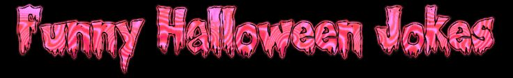 Pink Red Candy Funny Halloween Jokes Banner