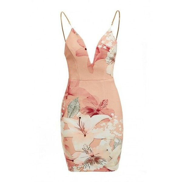 Ginger Fizz Pascali Dress (£40) ❤ liked on Polyvore featuring dresses, sexy bodycon dresses, summer dresses, white dresses, white cocktail dresses and white mini dress