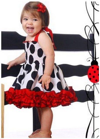 Девочки платья без рукавов скобки узор в горошек гофрирование девочки-младенцы лента платье 5 шт. / много