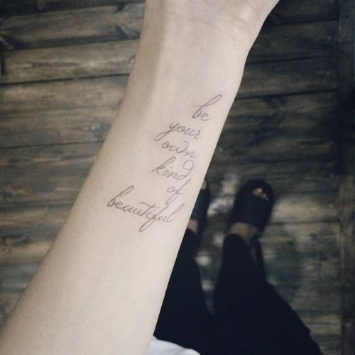 Tattoo His Name Quotes: Best 25+ Wrist Tattoos Sayings Ideas On Pinterest