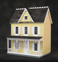 Vermont farmhouse dollhouse on Etsy, $675.00