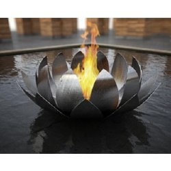 Stainless steel lotus firepit- I did a light fixture like this when I was in college and taking a metal fabrication class.  I really enjoyed seeing this evolution of that idea.