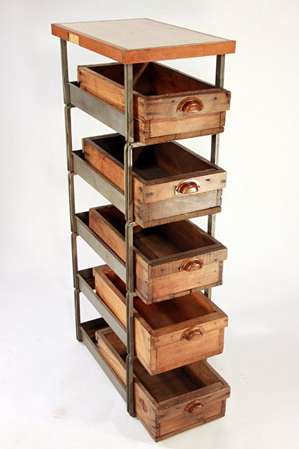 Upcycled Industrial Style Drawers