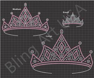 Crowns Rhinestone Design Sticky Flock Template Stencil Pattern File Download Bling Art EPS PLT SVG