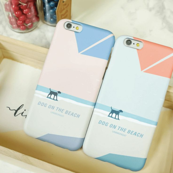 Dog and Sea Back Phone Case - Blue  Made in Korea World Wide Free Shipping  Dog and Sea Back Phone Case (UN-1711) - Blue