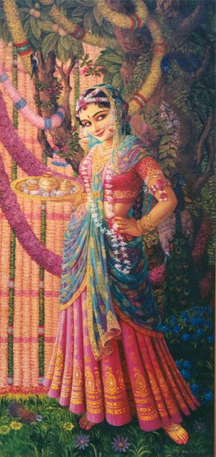 Sri Radharani : Her eyes are only for Krishna.