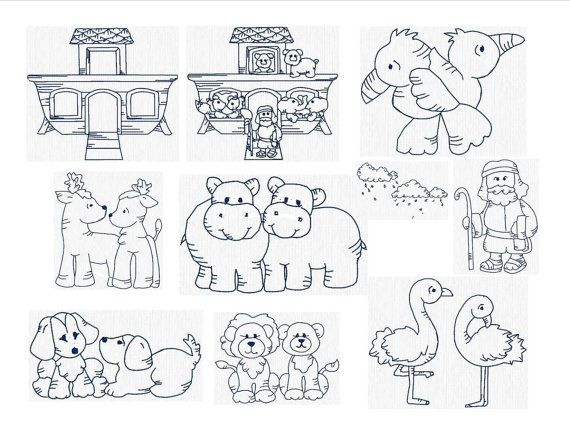 Religious Instant Download Machine Embroidery Noahs Ark Set Of 10 Size 4x4 On Etsy 638 AUD