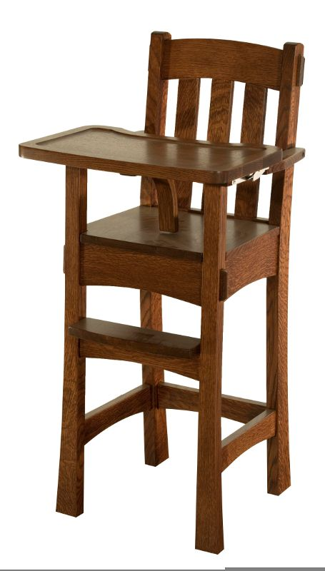 The Arts & Crafts Baby High Chair is made in USA by Amish woodworkers. The  finest quality kiln dried solid wood grown & harvested from well-managed US  ...
