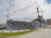 Japan's 114-year-old battleship Mikasa: A relic of another time     - CNET   An hour south of Tokyo on the edge of the bay is a piece of history unique in the world. Embedded in concrete just a few feet from the water is the 114-year-old battleship Mikasa. Its the only surviving pre-dreadnought battleship not to mention one of the only Imperial navy vessels still intact from that era.   After 21 years in service the Mikasawas decommissioned but not scrapped. Instead she was preserved at…